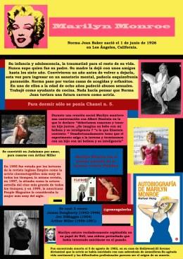 Infografía Marilyn
