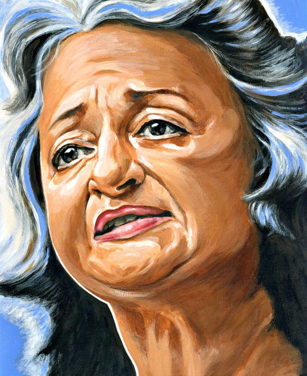 Betty Friedan dibujo de Titina Chalmatzi